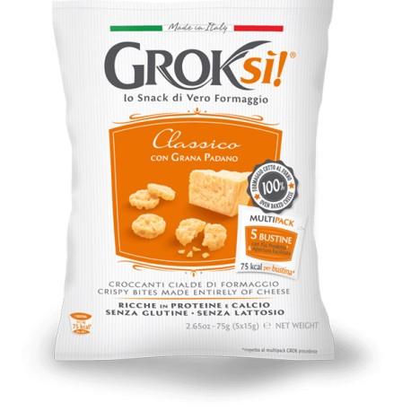 Groksi' snack senza Glutine senza Lattosio al Grana Padano consegna gratuita Europa Graz Vienna Bratislava
