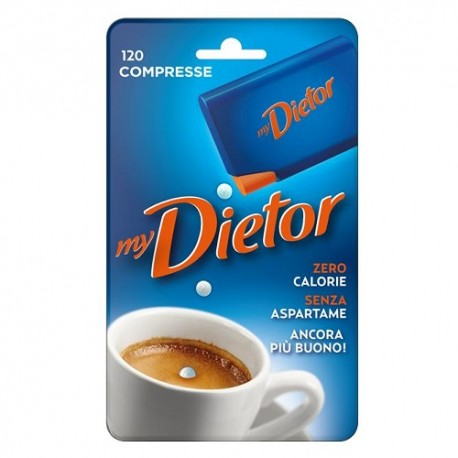 Dolcificante Dietor mini 120 compresse Zero Calorie Senza Aspartame
