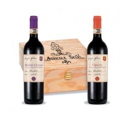 Agricole Selvi Cassetta In Legno 2 Vini Cl. 75: Morellino Di Scansano Docg Falorni, Chianti Docg Falorni