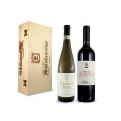 Mastroberardino Cassetta in legno 2 vini cl 75 Aglianico Irpinia DOC, Greco di Tufo DOCG